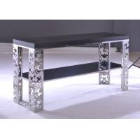 Quality Two Layers Rococo Style Modern Square Coffee Tables and Tea Tables with Hollow Board for sale