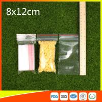 Buy cheap Ldpe Plastic  Reusable Ziplock Bags 8x12 cm With Colorful Line product