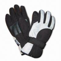 Quality Sports Ski Gloves, Made of 100% Polyester for sale