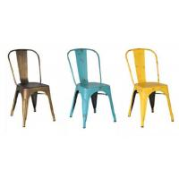 Quality Unique Dining Room Metal Tolix Dining Chairs Stackable Packing for sale