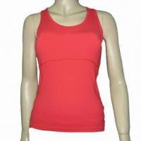 Quality Sports Top, Made of Nylon and Spandex, Available in Different Sizes for sale