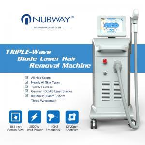 Quality self-designed good feedback 1064nm dark skin hair removal laser machine 808 755 combine fda for sale