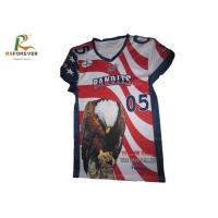 China Outdoor Sports Polyester Soccer Jerseys , Custom Team Jerseys With Name / Number on sale