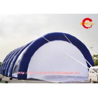 Cheap Large Blue / White Oxford Cloth Inflatable Bubble Tent  For Wedding / Exhibition wholesale