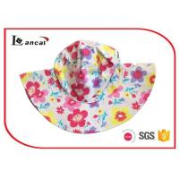 Buy cheap Cotton Flower  Printed Bucket Hat With Circle Lining  for girls product