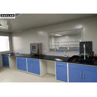 Floor Mounted Steel Lab Bench With PP Sink And Water Tap In Laboratory Engineering
