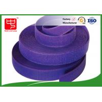 Quality Purple strong hook and loop adhesive tape hook and loop tape roll for garments for sale