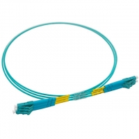 Buy cheap LC-LC Wire Single Core Multimode OM3 Fiber Optic Patch Cord Jumper PVC Cable 1M from wholesalers