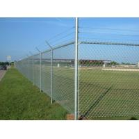 Buy cheap Steel Galvanized Chain Link Fence With Barbed Wire In The Top from wholesalers