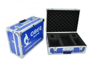 Quality Blue aluminum hard case with shoulder strape alu carry box egg foam inside for tools for sale