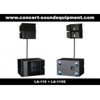 "Quality 380W Line Array Speaker , With 2x1""+10"" Neodymium Drivers For Living Event , DJ , Party And Installation for sale"
