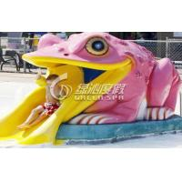 Buy cheap Colorful Small Frog Water Slide / Kids' Water Slides Safety for Aqua Park Playground Equipment product