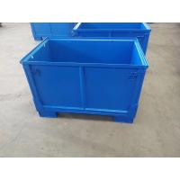 Quality Q235 Material Foldable Pallet Container Metal Cage Box 1200kg Static Weight for sale