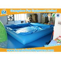 Buy cheap 0.9MM PVC Swimming Inflatable Water Pool / Air Tight Water Pool With Cover from wholesalers