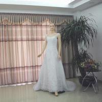 Quality Sleeveless and High Waist Design Ball Gown with Romantic Lace for sale