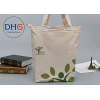 Quality White Bulk Cotton Canvas Tote Bag , Popular Canvas Tote Bags Non Piping String Closure for sale