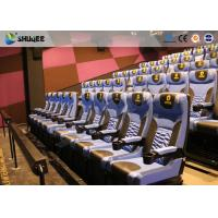 Buy cheap Arc Screen 4D Cinema Equipment Simulator Motion Chairs Customized Color SGS product
