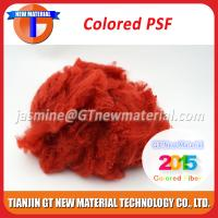 Bright Red Color Polyester Staple Fiber Dope Dyed PSF Polyester Staple Fiber