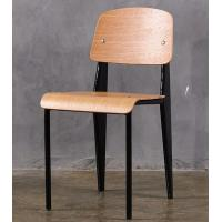 Buy cheap Metal Frame Modern Wood Dining Chairs , Armless Dining Room Side Chairs product