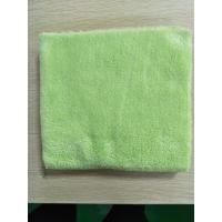 China 40*40cm Microfiber Green 600gsm Ultrasonic Trimming Coral Fleece Kitchen Towels on sale