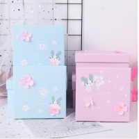 China Square Paper Lid And Base CMYK Printing Gift Box Packaging on sale