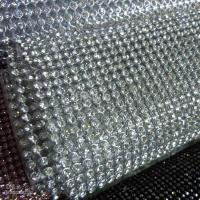 Quality aluminum rhinestone mesh trimming accessory for sale
