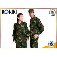 China Long Sleeve Forest Camouflage Military Uniforms BDU / ACU Army Battle Dress Uniform on sale