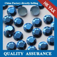 China China Factory 2mm 3mm Silver Gold Matte hot fix rhinestud manufacturers for apparel on sale