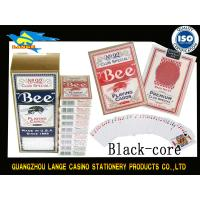 Buy cheap Custom Casino Standard BEE Playing Cards With Black Or Blue Core / Texas Poker from wholesalers