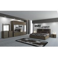 Melamine Faced Dark Bedroom Furniture , Self Assembled Bedroom Furniture 5 Pieces