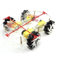 Diameter 65MM Metal Mecanum Wheel Robot For Smart Car