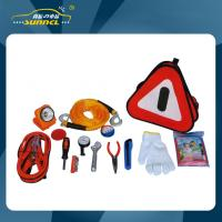 Quality Car Emergency Kits With Jumper Cables / Reflectors / Flashlight for sale