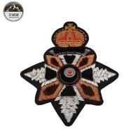 China Delicate Elegant 3D Embroidery Patches Custom Shape With India Slik / Metal Material on sale