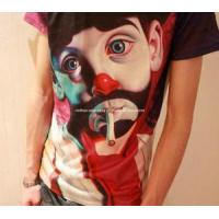 Creative T Shirt for Men 3D Clown Personalized T Shirt Novelty Top Tee O-Neck Slim Fit Shirt