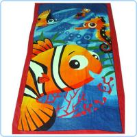China Micro Fiber suede printed beach towel on sale