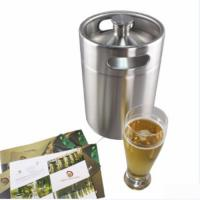 Quality 5L Mini Single Wall Stainless Steel Wine Kegs For Draught Or Fresh Beer for sale