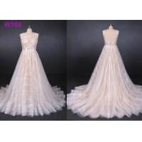 Buy Sexy Backless Female Wedding Dress Sleeveless Sequins Tulle Bright Lines And Chi Shapes at wholesale prices