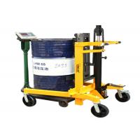 China Mobile Pedal Portable Hydraulic Drum Tilter With Adjustable Legs , Barrel Mover on sale