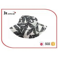 Buy cheap 100% Cotton floral printing bucket hat with wide brim , summer straw hats product
