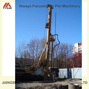 China TOP foundation equipment, SOILMEC crawler small/mini CFA rotary drilling rig KR125M on sale