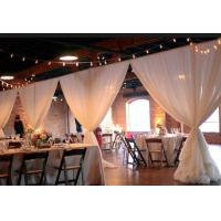 Buy Facotry event backdrop poles wedding decorate Pipe And Drape Wedding Backdrop at wholesale prices