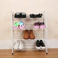 Quality H270 Durable Steel Metal Mesh Shoe Rack Quick And Easy Assembly White Color for sale
