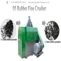 China Eco-friendly automatic waste tire rubber cutting machine tire shredder tire crusher tire fine crusher on sale