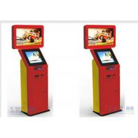 Trade Show Stainless Steel Self Check In Kiosk 32 Inch Dual Screen Custom Brand Name