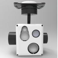 Quality Three-axis Multi-sensor Micro Gimbal With IR + TV + LRF Uncooled FPA EO IR Thermal Camera Monitoring System for sale