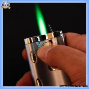 Practical Butane Cigarette Lighter with Green Light (13006981)