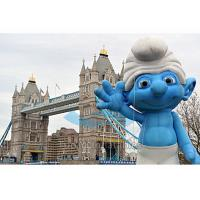 Buy Outdoor Event Inflatable Replica / Inflatable Smurf Character with Digital at wholesale prices