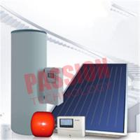 Quality Split Pressurized Solar Water Heater , Flat Plate Water Heater Blue Titanium Coating for sale
