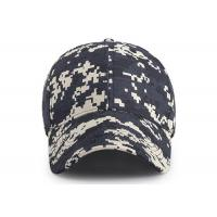 Quality 6 - panel Canvas Waterproof Buttonhole Army Camo Cap / Front Curved Baseball Cap for sale