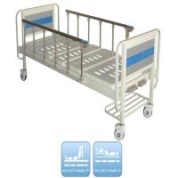 Buy Two Functions Medical Manual Hospital Bed With Two Cranks And Over Bed Table at wholesale prices